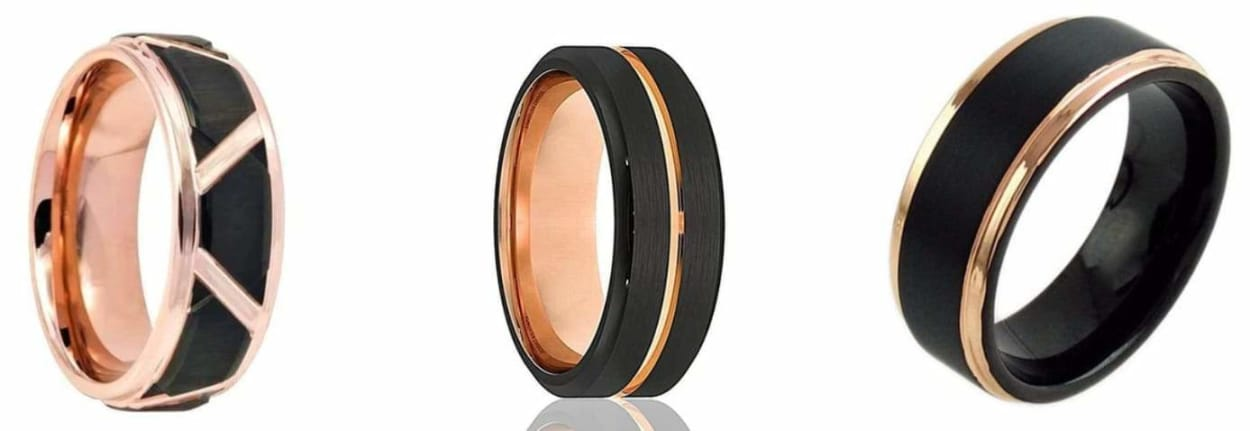 Tips for Buying Rose Gold or Yellow Inlaid Black Tungsten Wedding Bands
