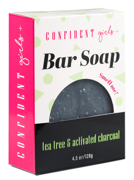TEA TREE AND CHARCOAL BAR SOAP - Confident Girls