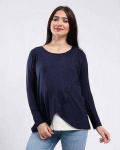 Wrap Front Maternity And Nursing T.Shirt