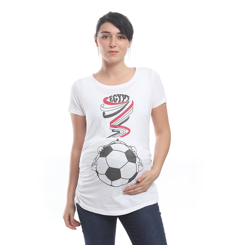 """World Cup"" Short Sleeves Maternity T-Shirt"