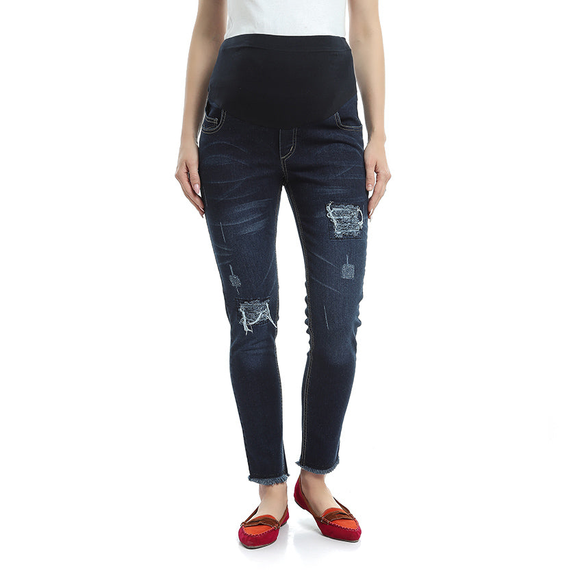 Destructed Maternity Jeans