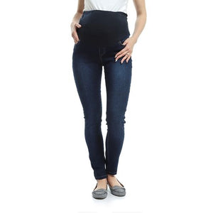Stretch Mid-wash Skinny Maternity Jeans