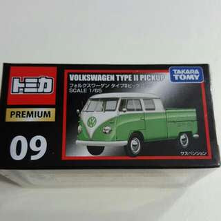 Takara Tomy Tomica Premium 09 Volkswagen Type II Scale 1/65 Pick Up Diecast Toy Car