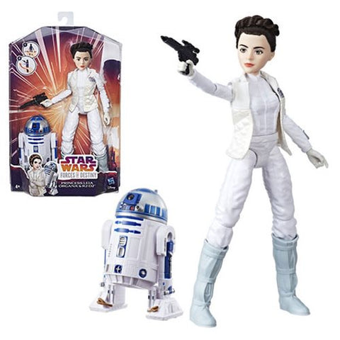 Star Wars Forces of Destiny Princess Leia and R2-D2 Adventure Figures