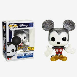 Disney Mickey Mouse Hot Topic Diamond Collection Pop! Exclusive vinyl Figure