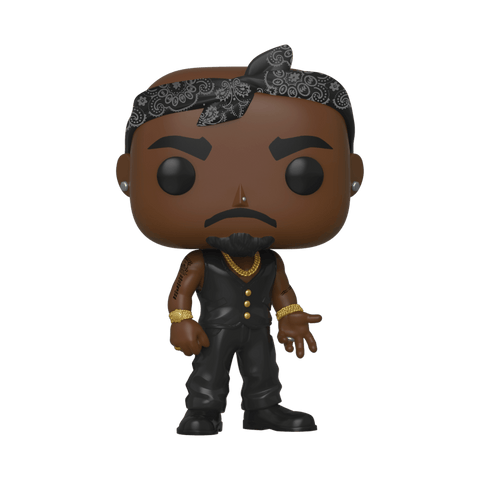 Pop Rocks: Tupac Vest with Bandana Vinyl Figure