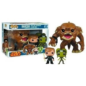 Star Wars Rancor, Luke, and Oola Pop! Vinyl Figure 3-Pack Previews Exclusives