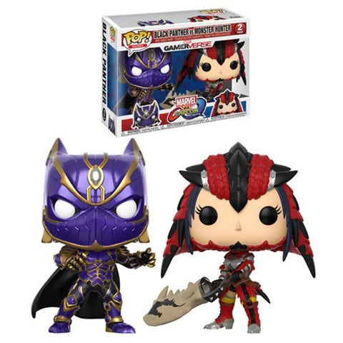 Funko Marvel Vs Capcom Black Panther Vs Monster Hunter Pop! Vinyl 2-Pack Kramer Toy Warden Greenhills, Alabang Mall, Philippines
