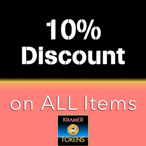 10% Discount on All Items - 7,000 Kramer Tokens