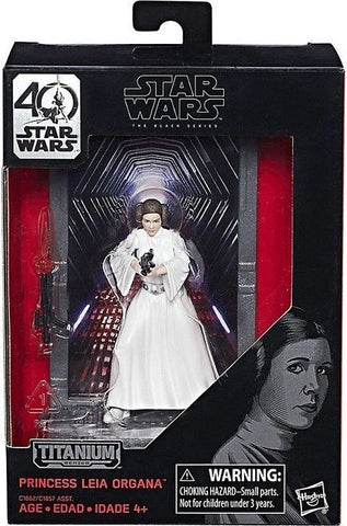 "Star Wars the Black Series 40th Anniversary Princess Leia 3.75""Titanium Series"