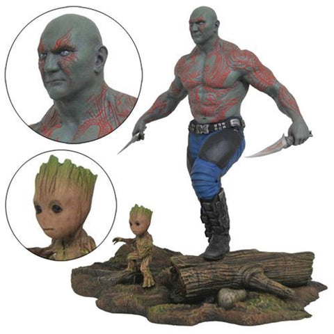 Marvel Gallery GOTG Vol. 2 Drax and Baby Groot Statue