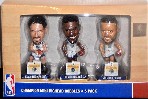 Preorder Golden State Warriors Finals Champions 3-Pack Mini Bighead Bobblehead Set PO P2700