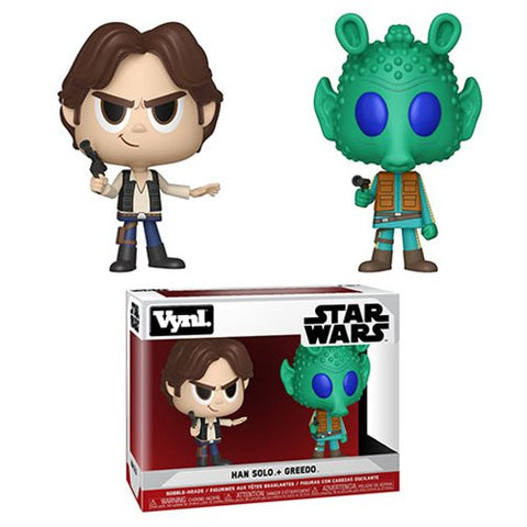 Star Wars Han Solo and Greedo Vynl Figure 2-Pack