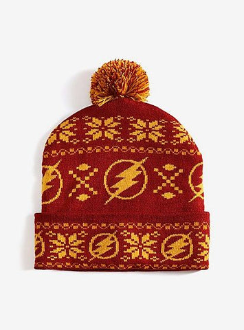 DC Comics The Flash Fair Isle Pom Beanie