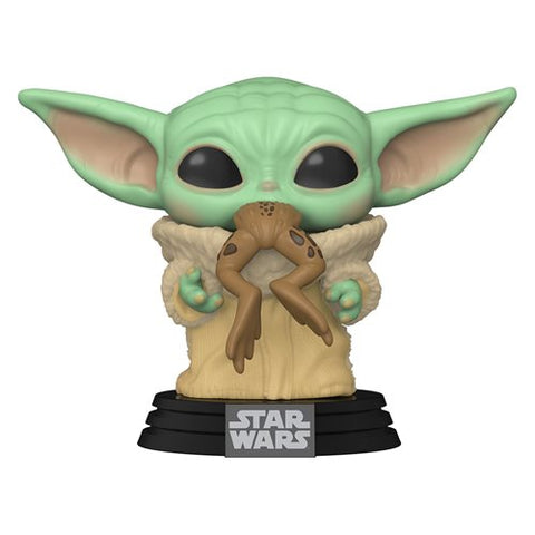 Preorder Star Wars: The Mandalorian The Child with Frog Pop! Vinyl Figure PO P550