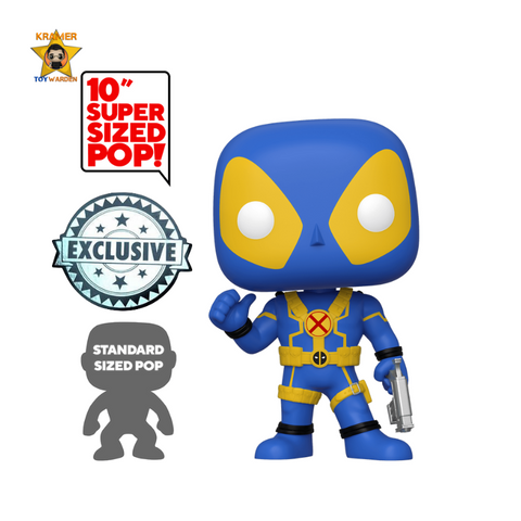 "Deadpool - Deadpool with Swords Black/Yellow 10"" Pop! Vinyl Figure Exclusive"