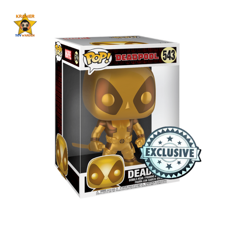 "Deadpool - Deadpool with Swords Gold 10"" Pop! Vinyl Figure Exclusive"