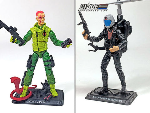 G.I. Joe The Final 12 Black Spider Rendezvous & Coils O'Doom GI Joe Club 2018 Exclusive Set