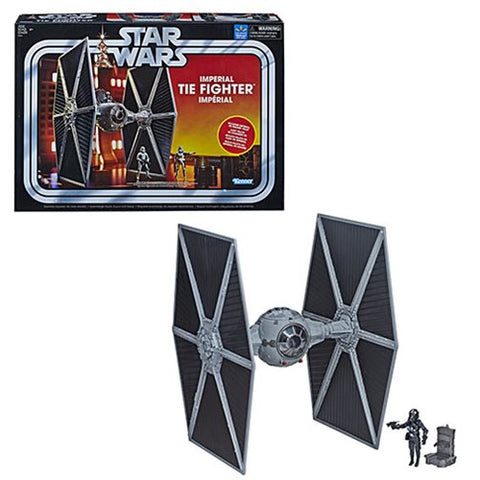 Star Wars The Vintage Collection Imperial TIE Fighter with Imperial TIE Fighter Pilot Action Figure - Exclusive