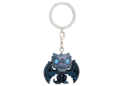 Funko Pocket Pop! Game Of Thrones Icy Viserion Key Chain - BoxLunch Exclusive