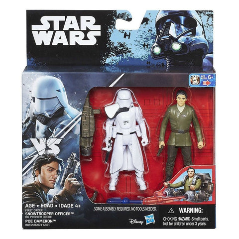 "Star Wars Poe Dameron & Snowtrooper Officer 2-Pack Deluxe 3.75"" Action Figure"