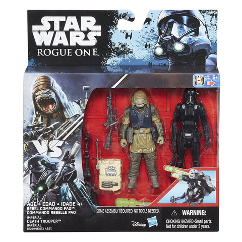 "Star Wars Poe Rebel Commando Pao and Imperial Death Trooper 2-Pack Deluxe 3.75"" Action Figure"