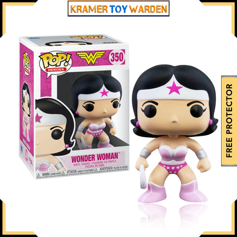 Wonder Woman Breast Cancer Awareness Pop! Vinyl Figure
