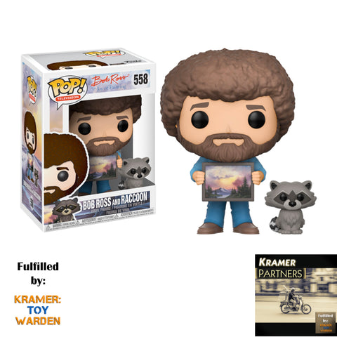 Funko POP! TV: Bob Ross - BOB ROSS with RACCOON Collectible Figure