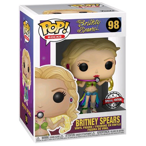 Pop Rocks! Britney Spears Slave 4 U Metallic EXCLUSIVE Vinyl Figure