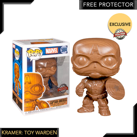 Captain America - Captain America Wood Deco Pop! Vinyl Figure Exclusive