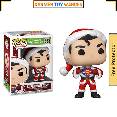 DC Holiday Superman with Sweater Pop! Vinyl Figure # 353