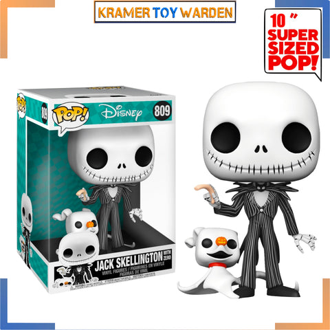 Disney NBX 10-inch JACK Skellington with Zero Pop! Vinyl Figure # 809