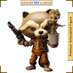 Egg Attack Action: GOTG Rocket Raccoon with Dancing Groot