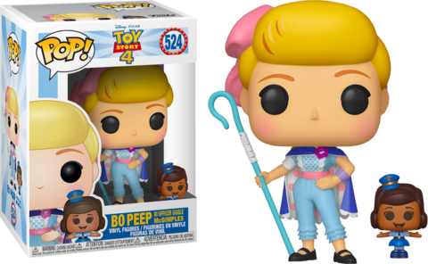 Toy Story 4 Bo Peep w/ Officer Giggle Mcdimples Pop! Vinyl Figure