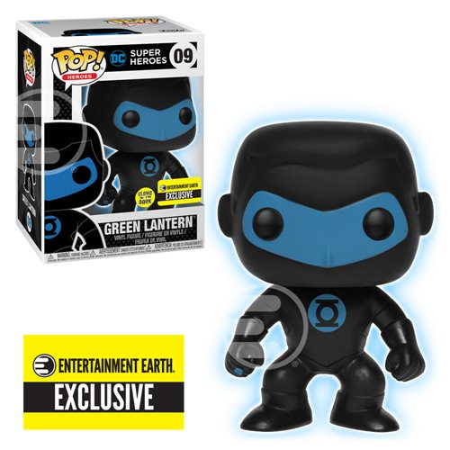 Justice League Green Lantern Silhouette Glow in the Dark Pop! Vinyl Figure - Entertainment Earth Exclusive