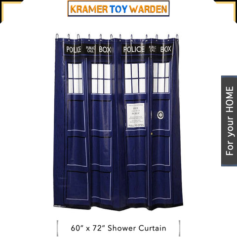 "Doctor Who Tardis Shower Curtain 60"" x 72"""