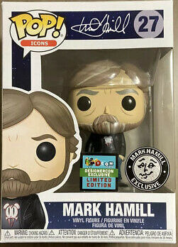 Icons Mark Hamill (Black Tee) Designer Con Exclusive 2019 Pop! Vinyl Figure