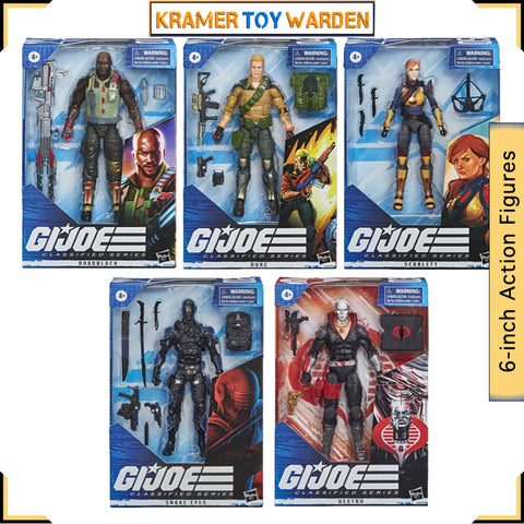 G.I. Joe Classified Series 6-Inch Set of 5 Action Figures Wave 1 - includes Snakeyes