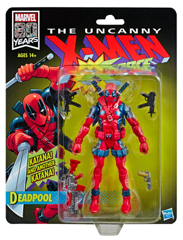 X-Men X-Force Retro Marvel Legends 6-Inch Deadpool Action Figure