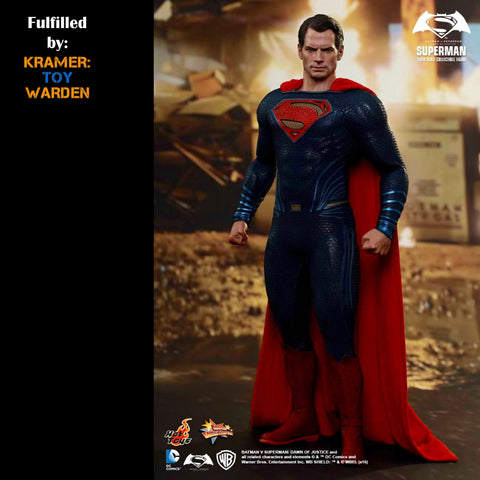 Hot Toys BvS SUPERMAN 1/6th Scale Collectible Figure MMS343 - MINT