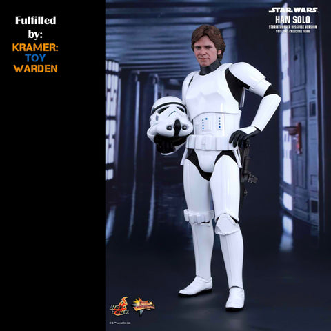 Hot Toys STAR WARS IV:  HAN SOLO (STORMTROOPER DISGUISE)  MMS 418 - MINT