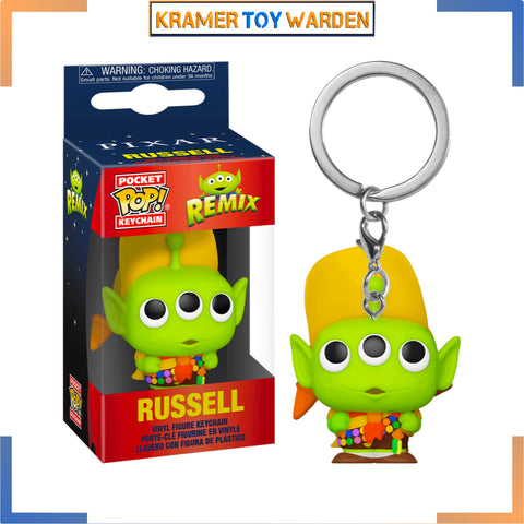 Pixar 25th Anniversary Alien Remix Russell Pop! Key Chain