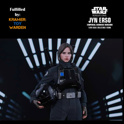 Hot Toys JYN ERSO (Imperial Disguise Version) Star Wars Rogue One 1/6th Scale Collectible Figure MMS419 - Sealed