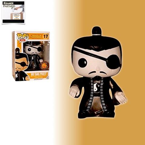 Funko Pop! Asia Shaolin Legends WU TANG PRIEST KING Funko 2015 Asia Exclusive Vinyl Figure (Black and White)