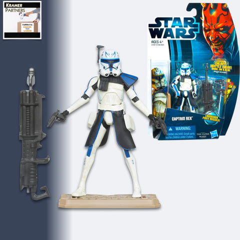 "Star Wars The Clone Wars CAPTAIN REX 3.75"" Action Figure - CW13"
