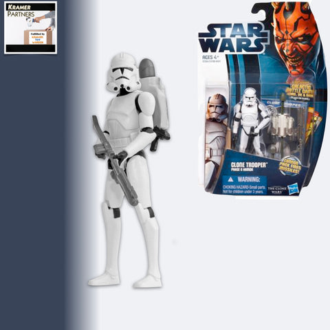 "Star Wars The Clone Wars CLONE TROOPER Phase II  3.75"" Action Figure - CW02"