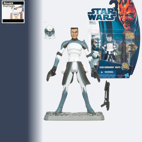 "Star Wars The Clone Wars COMMANDER WOLFFE 3.75"" Action Figure - CW48"