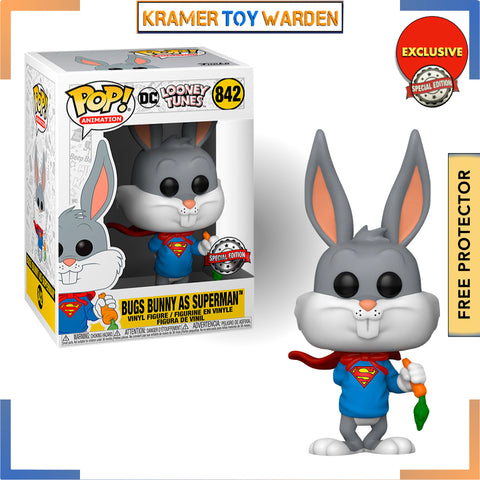 Bugs Bunny EXCLUSIVE 80th Anniversary Super Bugs Pop! Vinyl Figure # 842