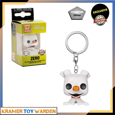 The Nightmare Before Christmas - Zero Diamond Glittered Exclusive Pocket Pop! Keychain