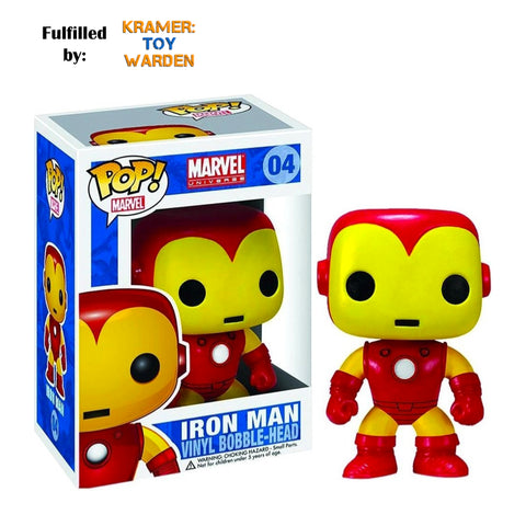 Funko Pop! IRON MAN Marvel #04 with Free Pop Protector